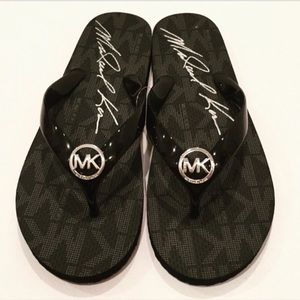 Michael Kors Black Thong Sandals- NEW!!!